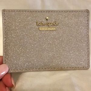 Kate Spade Glitter Card Holder